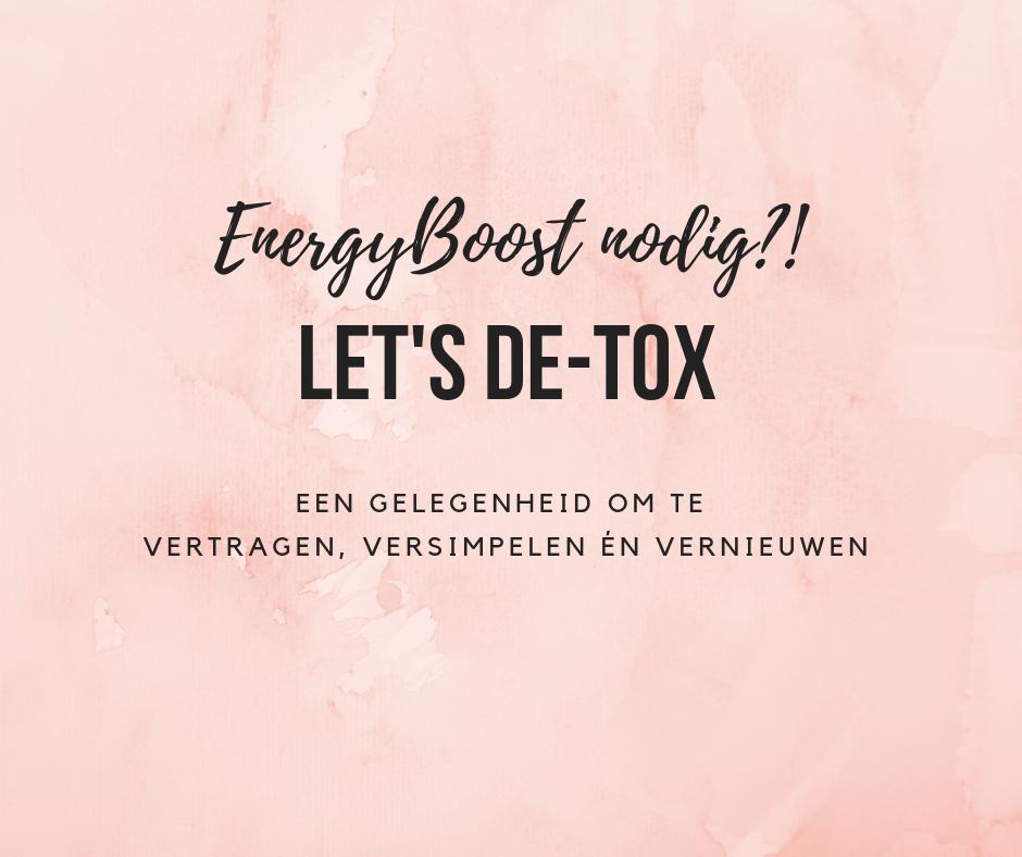 Een detox als energyboost